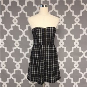 Charlotte Russe Plaid Zip Front Dress